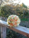 Peaches and Cream Handtied Bouquet